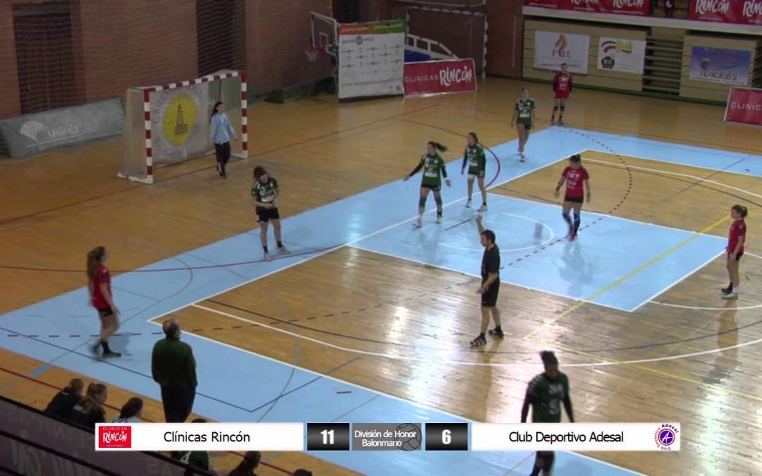 División de Honor Balonmano Femenino Clínicas Rincón – Adesal Córdoba 12ª jornada