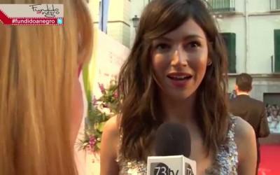 La actriz Úrsula Corberó en la alfombra roja del 18 Festival de Cine de Málaga