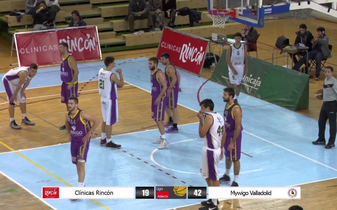 Liga Adecco Oro: Clínicas Rincón – Mywigo Valladolid 23/01/15