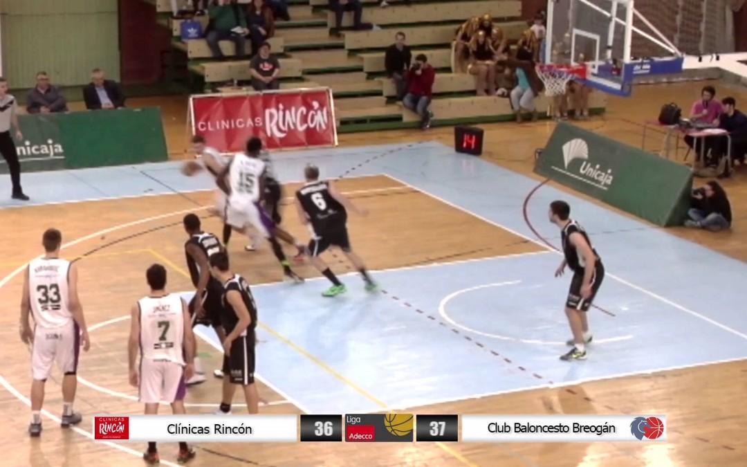 Liga Adecco Oro: Clínicas Rincón – Club Baloncesto Breogán 07/03/15