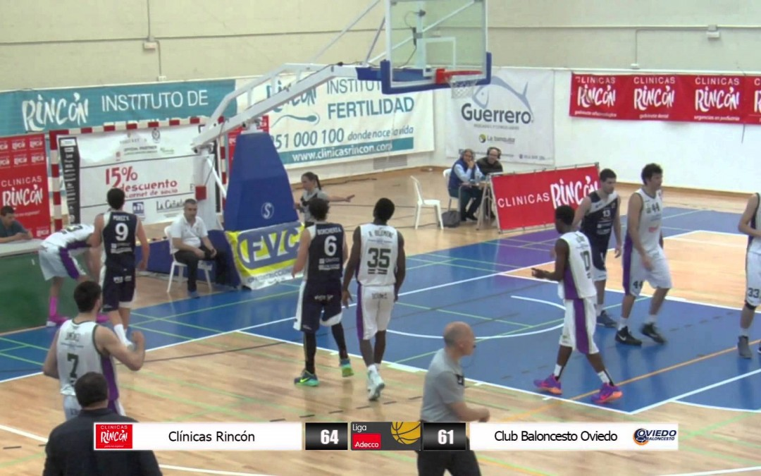 Liga Adecco Oro Clínicas Rincón – U.F.B. Oviedo Baloncesto 05/04/2014