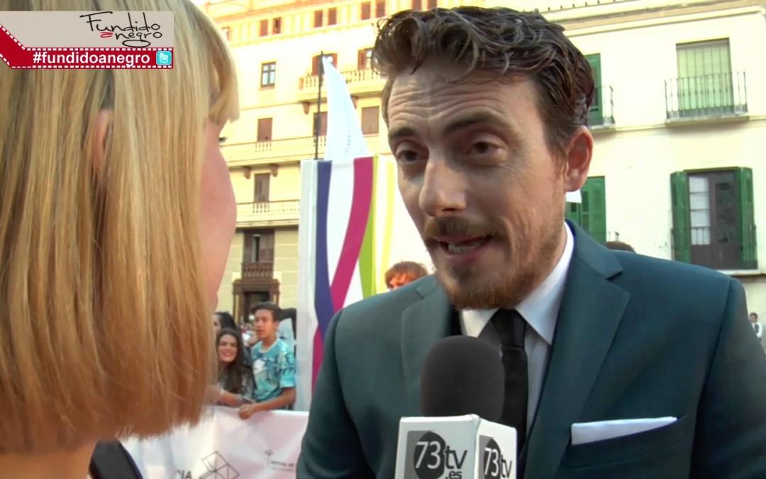 Víctor Clavijo en la alfombra roja del 18 Festival de Cine de Málaga